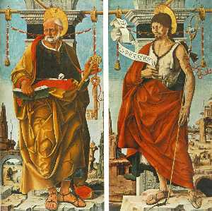 Francesco Del Cossa - Griffoni Polyptych: St Peter a..