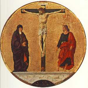 Francesco Del Cossa - Griffoni Polyptych: The Crucifixion