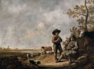 Aelbert Jacobsz Cuyp - Piping Shepherds
