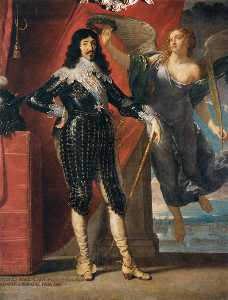 Philippe De Champaigne - Louis XIII Crowned by Vic..