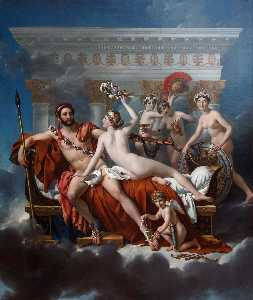 Jacques Louis David - Mars Disarmed by Venus an..