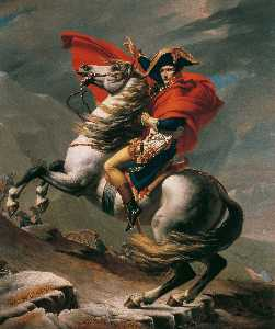 Jacques Louis David - Napoleon at the St. Berna..