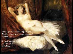 Eugène Delacroix - Female Nude Reclining on ..