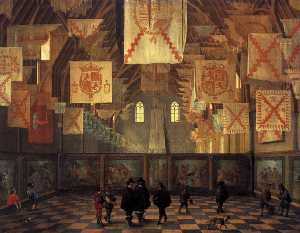 Dirck Van Delen - The Great Hall of the Binnenho..