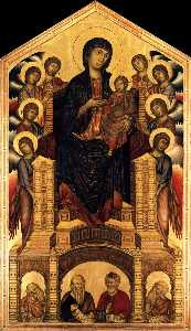 Cimabue - The Madonna in Majesty (M..