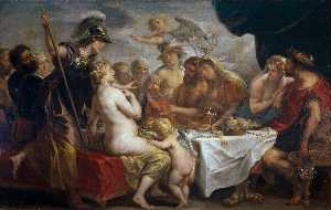 Hendrick De Clerck - The Nuptials of Thetis and Pel..