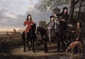 Aelbert Jacobsz Cuyp - Starting for the Hunt