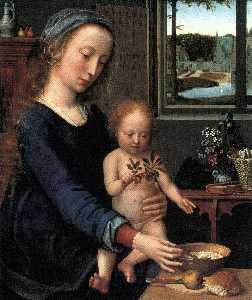 Gerard David - Virgin and Child with the..