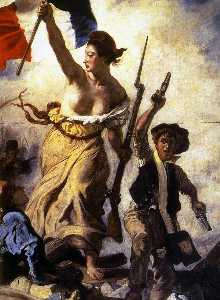 Eugène Delacroix - Liberty Leading the People (detail)