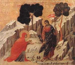 Duccio Di Buoninsegna - Appearence to Mary Magdal..