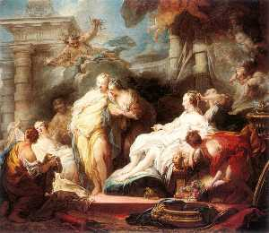 Jean-Honoré Fragonard - Psyche Showing Her Sister..
