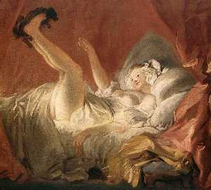 Jean-Honoré Fragonard - Young Woman Playing with ..