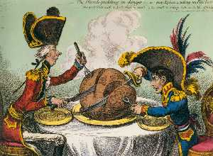 James Gillray - The Plum-Pudding in Dange..