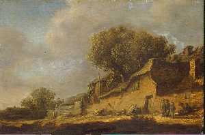 Jan Van Goyen - Landscape with a Peasant ..