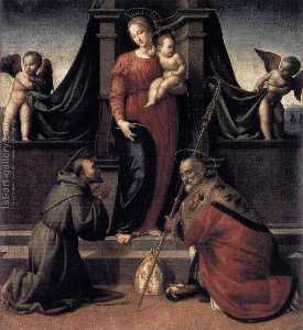 Francesco Granacci - Virgin and Child with Sts Francis and Zenobius