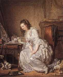 Jean-Baptiste Greuze - The Broken Mirror