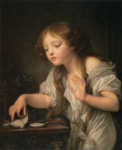 Jean-Baptiste Greuze - The Dead Bird