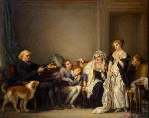 Jean-Baptiste Greuze - The Widow and Her Priest