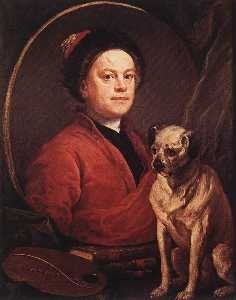 William Hogarth - The Painter and his Pug
