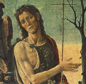 Jacopo Del Sellaio - St John the Baptist (deta..