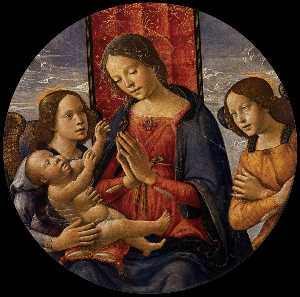 Bastiano Mainardi - Virgin Adoring the Child with Two Angels