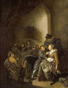 Jan Miense Molenaer - Amorous Couple in an Inn