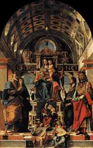 Bartolomeo Montagna - Madonna and Child Enthroned with Saints