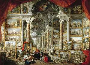 Giovanni Paolo Pannini - Gallery of Views of Moder..