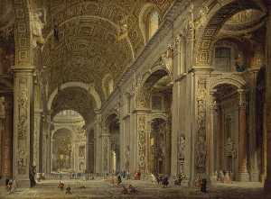 Giovanni Paolo Pannini - Interior of St Peter's in..