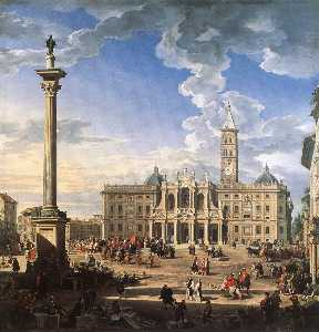 Giovanni Paolo Pannini - The Piazza and Church of ..