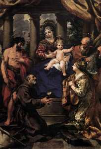 Pietro Da Cortona - Virgin and Child with Saints