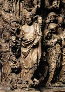 Nicola Pisano - Apocalyptic Christ, relief from the pulpit (detail)