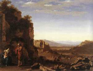 Cornelis Van Poelenburgh - Rest on the Flight into Egypt