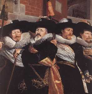 Hendrick Gerritsz Pot - Officers of the Civic Guard of St Adrian (detail)