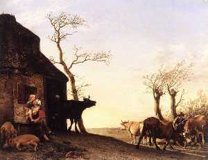 Paulus Potter - Driving the Cattle to Pasture ..