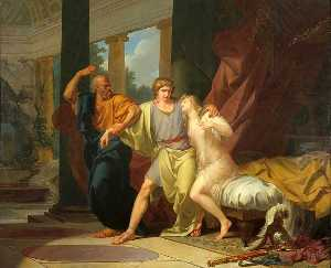 Jean Baptiste Baron Regnault - Socrates Dragging Alcibiades from the Embrace of Aspasia