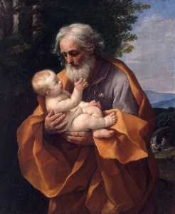 Reni Guido (Le Guide) - St Joseph with the Infant Jesus