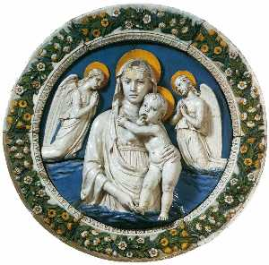 Luca Della Robbia - Madonna and Child between Two Angels