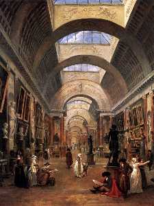 Hubert Robert - Design for the Grande Gal..