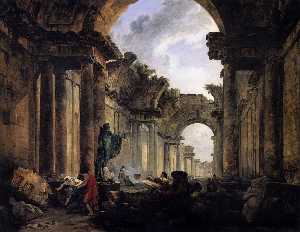 Hubert Robert - Imaginary View of the Gra..