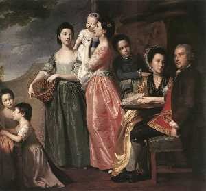 George Romney - The Leigh Family
