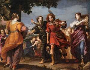 Matteo Rosselli - The Triumph of David