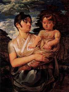 Philipp Otto Runge - The Artist-s Wife and Son