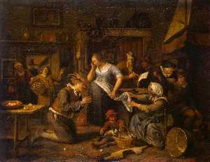 Jan Steen - Marriage Contract
