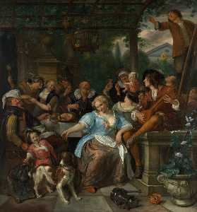 Jan Steen - Merry Company on a Terrac..