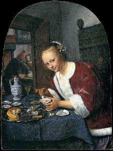 Jan Steen - The Oyster-eater