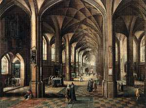 Hendrick Van The Younger .. - Interior of a Church with..