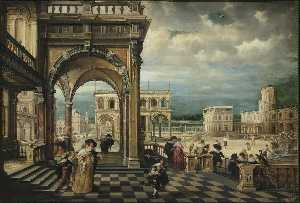 Hendrick Van The Younger .. - Italian Palace