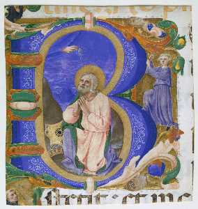 Zanobi Strozzi - Initial B with David in Prayer