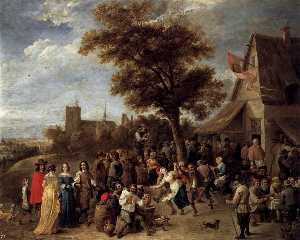 David The Younger Teniers - Peasants Merry-making
